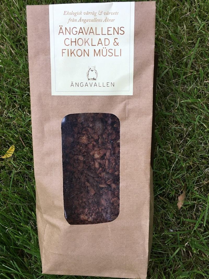 Ängavallens Ekologiska Choklad & Fikon Müsli, (400 g)